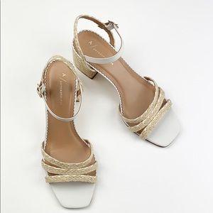 Anthropologie Samantha Espadrille-Heeled Sandals